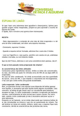 ESPUMA DE LIM O