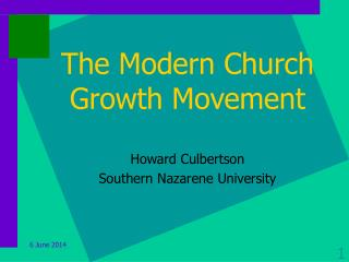 The Modern Church Growth Movement