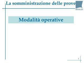 Modalit  operative
