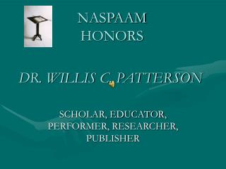 NASPAAM  HONORS