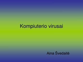 Kompiuterio virusai