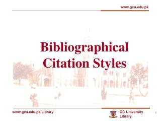 Bibliographical Citation Styles