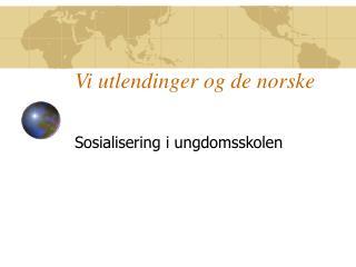Vi utlendinger og de norske