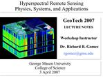 Hyperspectral Remote Sensing  Physics, Systems, and Applications