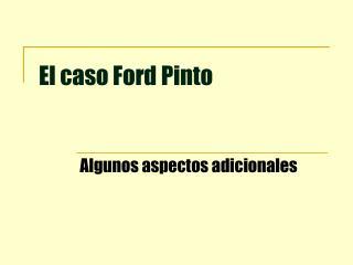 El caso Ford Pinto