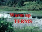 Warm up       TERMS