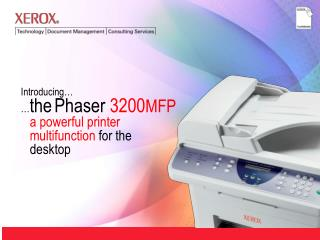 Introducing    the Phaser 3200MFP