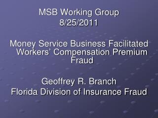 MSB Working Group   8