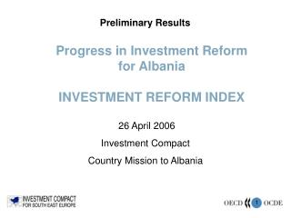 Progress in Investment Reform for Albania