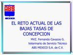 EL RETO ACTUAL DE LAS BAJAS TASAS DE CONCEPCION