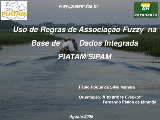 Uso de Regras de Associa  o Fuzzy  na Base de   Dados Integrada PIATAM