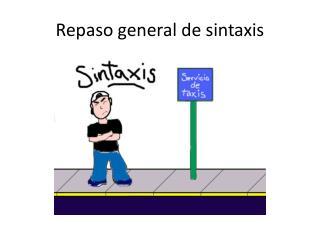 Repaso general de sintaxis