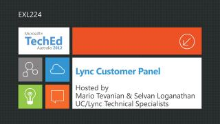 Lync Customer Panel