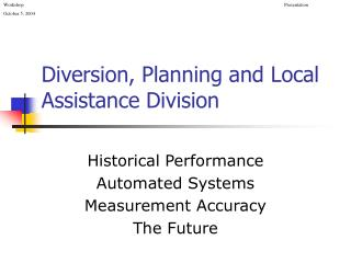 Diversion, Planning and Local Assistance Division