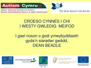CROESO CYNNES I CHI  I WESTY GWLEDIG  MEIFOD   I gael noson o godi ymwybyddiaeth gyda n siaradwr gw dd,  DEAN BEADLE