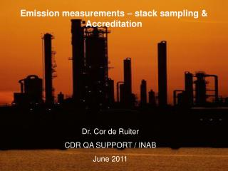 Emission measurements   stack sampling  Accreditation