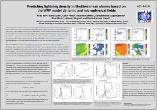 Predicting lightning density in Mediterranean storms based on the WRF model dynamic and microphysical fields