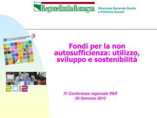 Fondi per la non autosufficienza: utilizzo, sviluppo e sostenibilit