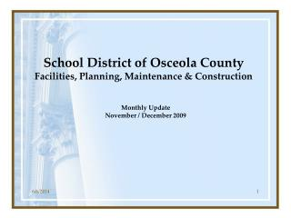 School District of Osceola County Facilities, Planning, Maintenance  Construction