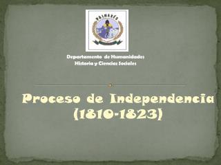 Departamento  de Humanidades Historia y Ciencias Sociales