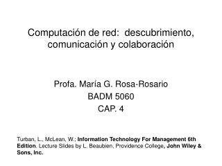 Computaci n de red:  descubrimiento, comunicaci n y colaboraci n