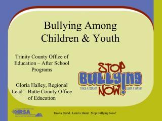 Bullying Among  Children  Youth