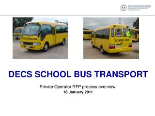 DECS SCHOOL BUS TRANSPORT