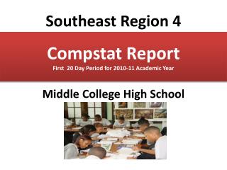 Compstat Report                                    First  20 Day Period for 2010-11 Academic Year