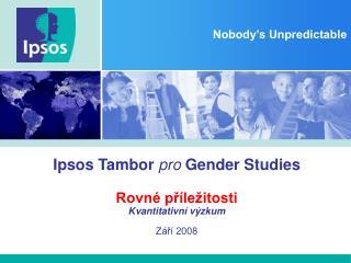 Ipsos Tambor pro Gender Studies  Rovn  pr le itosti Kvantitativn  v zkum  Z r  2008