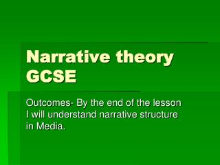 Narrative theory GCSE