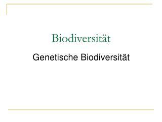 Biodiversit t