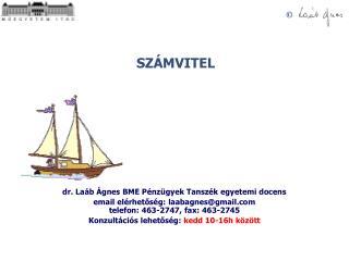 Dr. La b  gnes BME P nz gyek Tansz k egyetemi docens email el rhetos g: laabagnesgmail telefon: 463-2747, fax: 463-2745