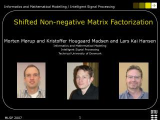Shifted Non-negative Matrix Factorization