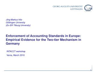 Enforcement of Accounting Standards in Europe: Empirical Evidence for the Two-tier Mechanism in Germany
