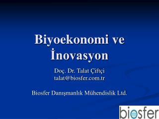 Biyoekonomi ve Inovasyon