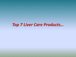 Liver Care Vitamins Supplements | Ez-Healthsolutions