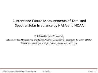 Current and Future Measurements of Total and Spectral Solar Irradiance by NASA and NOAA