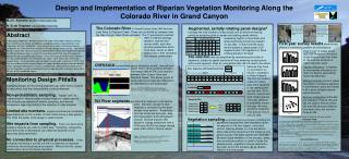 Design and Implementation of Riparian Vegetation Monitoring Along the Colorado River in Grand Canyon