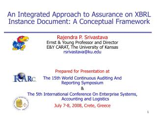 An Integrated Approach to Assurance on XBRL Instance Document: A Conceptual Framework