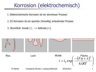 Korrosion elektrochemisch