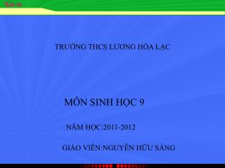 TRUNG THCS LUONG H A LC