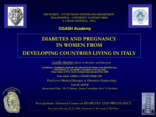 DIABETES AND PREGNANCY  IN WOMEN FROM  DEVELOPING COUNTRIES LIVING IN ITALY