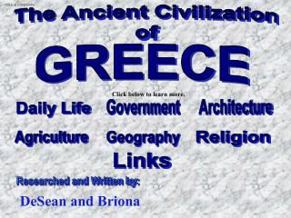 The Ancient Civilizationof