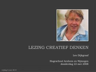 Lezing creatief denken