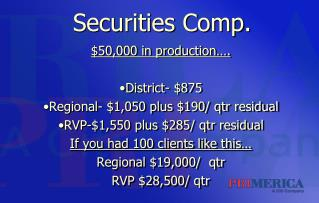 Securities Comp.