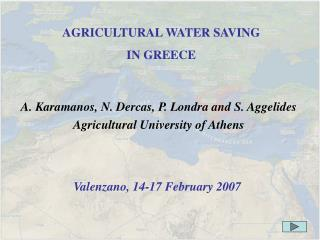 AGRICULTURAL WATER SAVING
