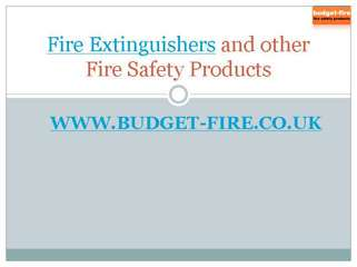 Fire extinguishers from Budget-Fire UK