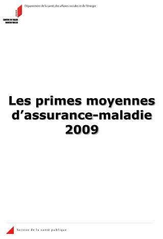 Les primes moyennes d assurance-maladie 2009
