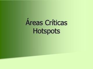 reas Cr ticas Hotspots