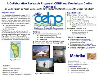 A Collaborative Research Proposal: CEHP and Dominica